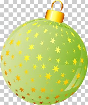 Christmas Ornament Yellow Christmas Decoration Albeca PNG
