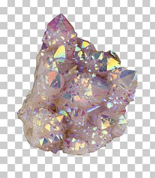 Metal-coated Crystal Smoky Quartz Rock PNG