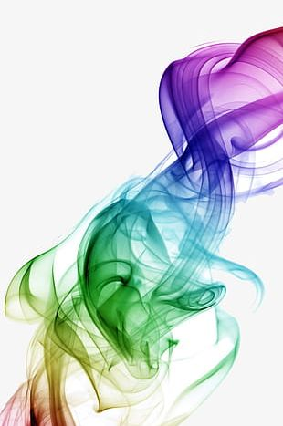 Creative Hazy Color Smoke PNG