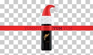 Red Wine Christmas Banner PNG
