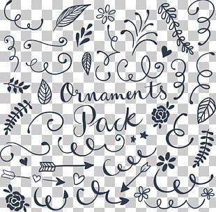 Wedding Invitation Ornament Drawing Calligraphy PNG