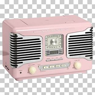 Antique Radio Vintage Pink Radio PNG