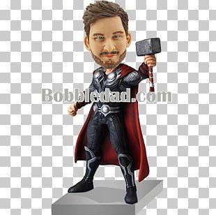 Marvel Avengers Assemble Thor Captain America Iron Man Bobblehead PNG