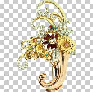 Brooch Imitation Gemstones & Rhinestones Corocraft Jewellery Costume Jewelry PNG