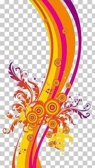 Ribbon Color Splash Effect PNG