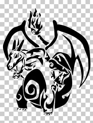 Pokemon Black & White Charizard Charmander PNG