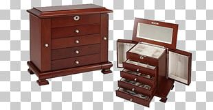Drawer Casket Jewellery Box Silver PNG