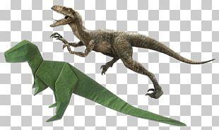 Velociraptor Tyrannosaurus Dinosaur Dilophosaurus Origami PNG