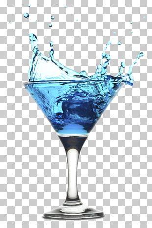 Cocktail Garnish Martini Blue Lagoon Blue Hawaii PNG