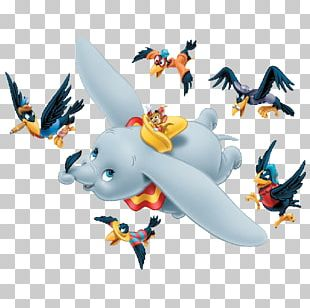 Dumbo The Flying Elephant Timothy Q. Mouse The Ringmaster Crow PNG