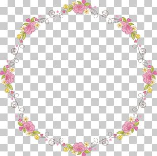 Flower Garland Wreath Computer File PNG