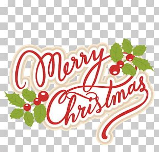 Merry Christmas Playful Text PNG
