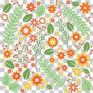Flower Leaf Pattern PNG