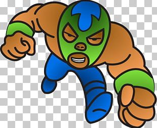 Professional Wrestler Lucha Libre Cartoon Wrestling Mask PNG