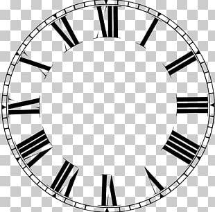 Clock Face Roman Numerals Dial PNG