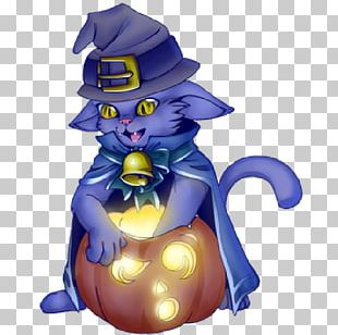 Cat Cartoon Halloween PNG
