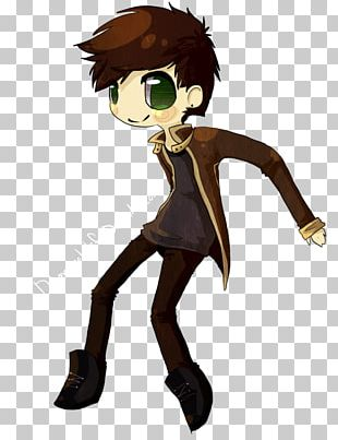Brown Hair Glasses Mammal Character PNG