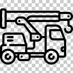 Car Dump Truck Mobile Crane PNG