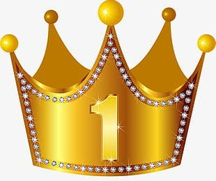 Golden Diamond Crown PNG