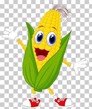 Corn On The Cob Maize Sweet Corn Cartoon PNG