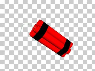 Hand Painted Red Explosives PNG