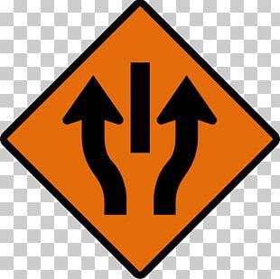 Lane Traffic Sign Roadworks Manual On Uniform Traffic Control Devices PNG