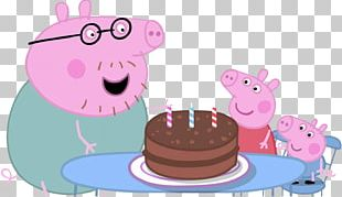 Daddy Pig Birthday Episode Animated Cartoon Child PNG