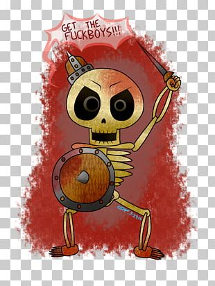 Animated Cartoon Character Skull PNG