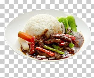 Mongolian Beef Nasi Campur Cooked Rice Thai Cuisine PNG