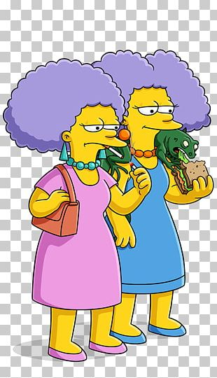 Patty Bouvier Selma Bouvier Marge Simpson Homer Simpson YouTube PNG
