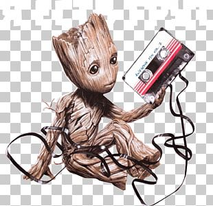 Baby Groot T-shirt Compact Cassette Clothing PNG