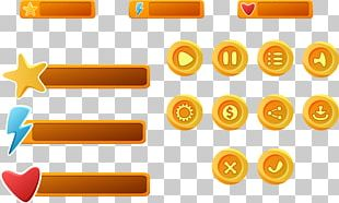Button Mobile Game User Interface Video Game PNG