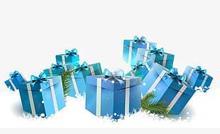Christmas Gift Box Material PNG