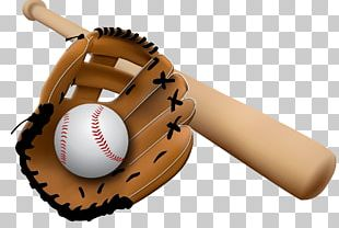Baseball Glove And Bat PNG