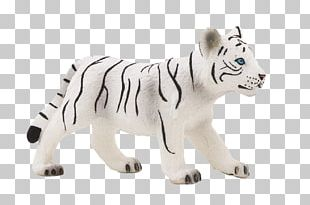 Lion Animal Figurine White Tiger Toy Wildlife PNG