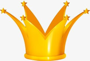 Cartoon Gold Crown PNG