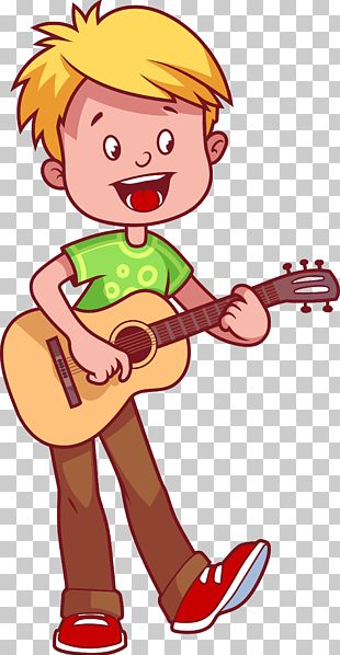 Guitar Cartoon Illustration PNG