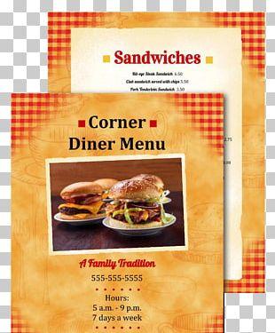 Fast Food Bistro Restaurant Menu Cuisine PNG