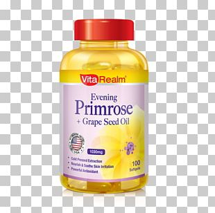 Grape Seed Oil Dietary Supplement Common Evening-primrose PNG