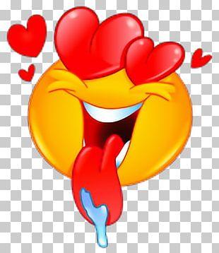 Emoticon Emoji Smiley Heart Love PNG