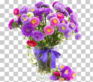 Flower Bouquet Aster Stock Photography Vase PNG