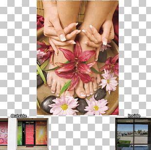 Millennium Nails 1 Decal Paper Floral Design Window PNG