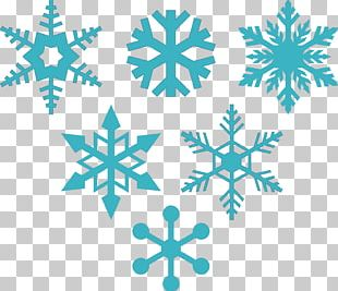 Snowflake Silhouette Stencil PNG