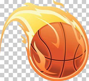 Basketball Fire Illustration PNG