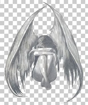 Drawing Angel Pencil Sadness Sketch PNG