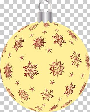 Christmas Ornament Snowflake Holiday Pattern PNG
