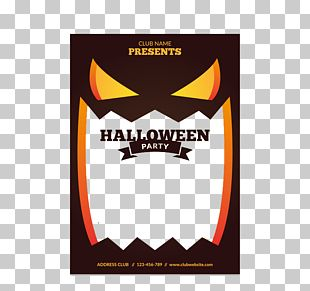 Halloween Party Flyer Poster PNG