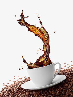 Coffee Splash Effect PNG