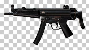 Heckler & Koch MP5 Submachine Gun Firearm Stock PNG
