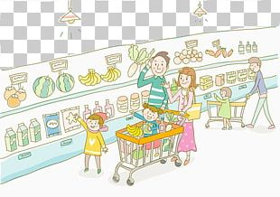 Food Cartoon Grocery Store Supermarket Illustration PNG